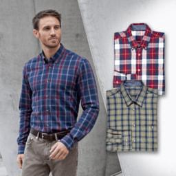 STRAIGHT UP® Camisa de Flanela para Homem
