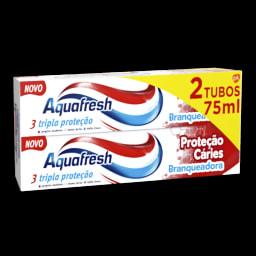 Aquafresh Dentífrico Proteção Cáries Branqueador
