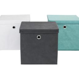 MELINERA® Caixa de Arrumação Têxtil com Tampa 20 L