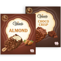 GELATELLI® Gelado de Amêndoa / Clássico / Choco Crisp