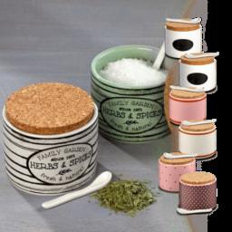 HOME CREATION® Potes para Sal e Ervas Aromáticas