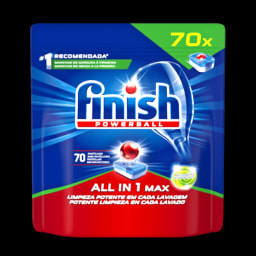 Finish All in 1 Max Detergente Máquina Loiça Antigordura