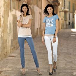 UP2FASHION® Calças Elásticas para Senhora