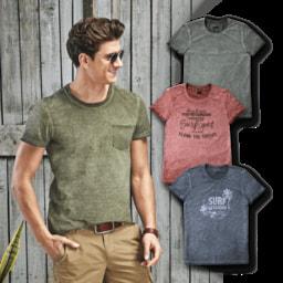 STRAIGHT UP® T-Shirt para Homem Oilwashed