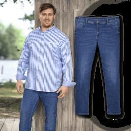 STRAIGHT UP® Jeans para Homem, Tamanho Grande