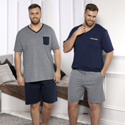 STRAIGHT UP® Pijama Curto para Homem Tamanho Grande