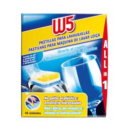 W5® Pastilhas para Máquina de Lavar Loiça All in 1 Original
