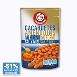 Amendoins no Forno com Sal e Mel