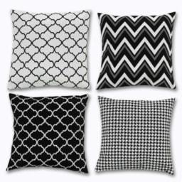 Almofada Decorativa Black & White
