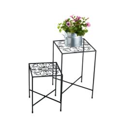 FLORABEST® Conjunto de Mesas para Vasos, 2 Unid.