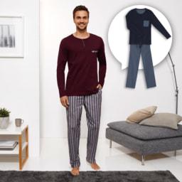 ENRICO MORI® Pijama para Homem Premium
