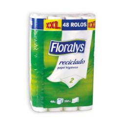 FLORALYS® Papel Higiénico XXL Reciclado 2 Folhas