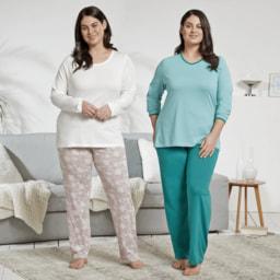 QUEENTEX® Pijama para Senhora Tamanhos Grande