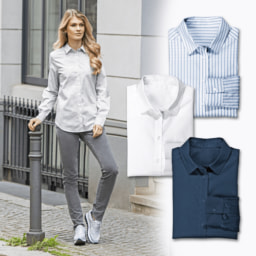 UP2FASHION® Camisa Comprida para Senhora