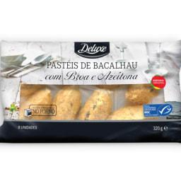 DELUXE® Pastéis de Bacalhau com Broa de Milho e Azeitonas para Forno