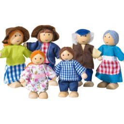 PLAYTIVE® JUNIOR Conjunto de Móveis/ Bonecos de Miniaturas