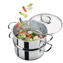Panela para Cozinhar a Vapor 3 Peças