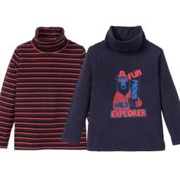 Lupilu® Camisolas de Gola Alta para Menino 2 Unid.