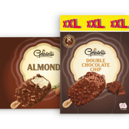 GELATELLI® Gelado Baunilha Amêndoa / Choco Crisp