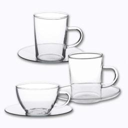 Chávenas em Vidro