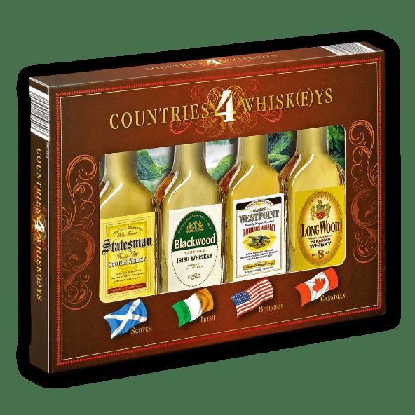 Miniaturas 4 Countries Whiskeys