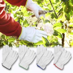 Luvas de Jardinagem em Pele