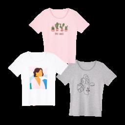 UP2FASHION® T-shirt Senhora, Tamanho Grande
