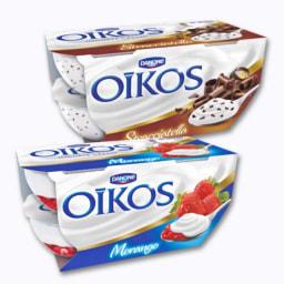 Iogurte Oikos Stracciatella ou Morango