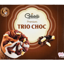Gelatelli® Gelado de Cone  Trio Choco/Fresh