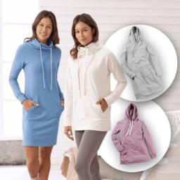 UP2FASHION® Vestido/ Sweatshirt  de Lazer