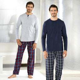 ENRICO MORI® Pijama de Flanela para Homem