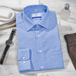 ROYAL CLASS® Camisa Azul para Homem