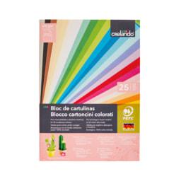 CRELANDO® Bloco de Cartolina/ Bloco de Papel Colorido