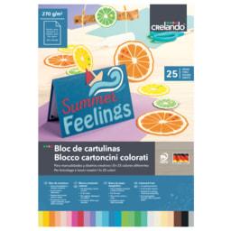 Crelando® Bloco Cartolinas / Papel Colorido