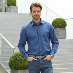 Camisa Azul para Homem