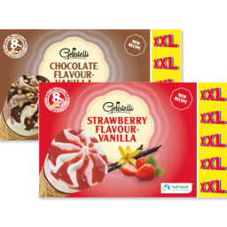 Gelatelli® Gelado Cone de Chocolate e Baunilha / Morango