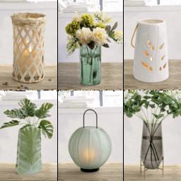 LIVING ART® Vaso/ Lanterna decorativos