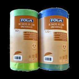 FOLIA® Sacos de Lixo Universais 60/ 120 l