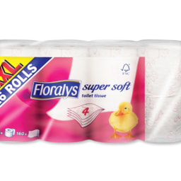 Floralys® Papel Higiénico 4 Folhas XXL