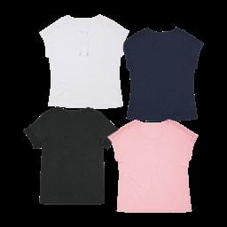 UP2FASHION® T-Shirt com Renda, Tamanho Grande