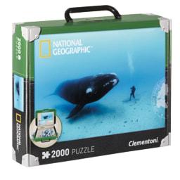 Mala com Puzzle National Geographic 2000 Peças