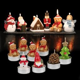 LIVING ART® Velas Figuras de Natal