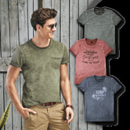 STRAIGHT UP® T-Shirt para Homem Oilwashed