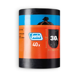 PURIO® Sacos para Lixo 30 L com Atilho