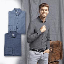 STRAIGHT UP® Camisa para Homem Bicolor