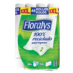 Floralys® Papel Higiénico 100% Reciclado