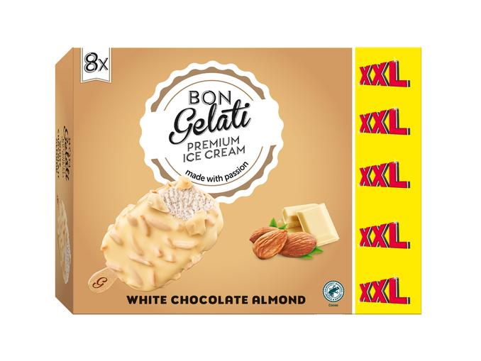 Gelatelli® Gelado de Chocolate Branco com Amêndoa