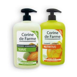 Champôs e amaciadores selecionados CORINE DE FARME®