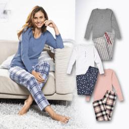 QUEENTEX® Pijama em Flanela para Senhora