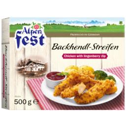 Alpenfest® Tiras de Frango com Dip